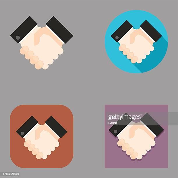 Flat Handshake icons | Kalaful series