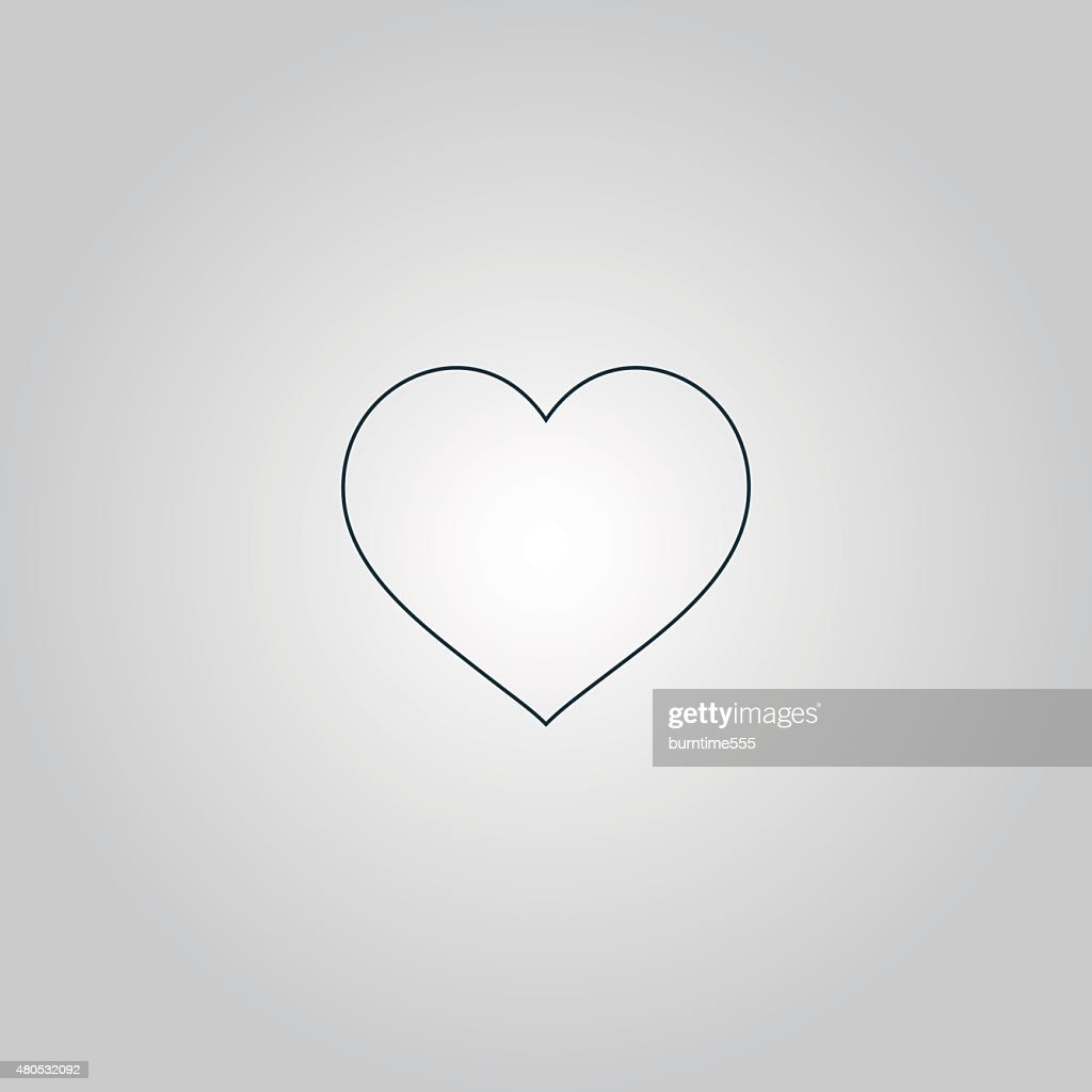 Flat heart icon : Vector Art