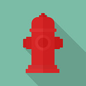 Hydrant Illustration in Flat Design Style. With EPS 10 File, easy to edit and use.
