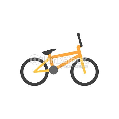 Flat icon - BMX bicycle