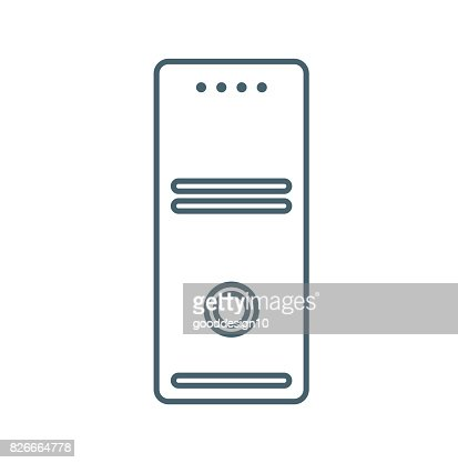 CPU flat Icon Isolated on White Background.vector illustration icon : stock vector