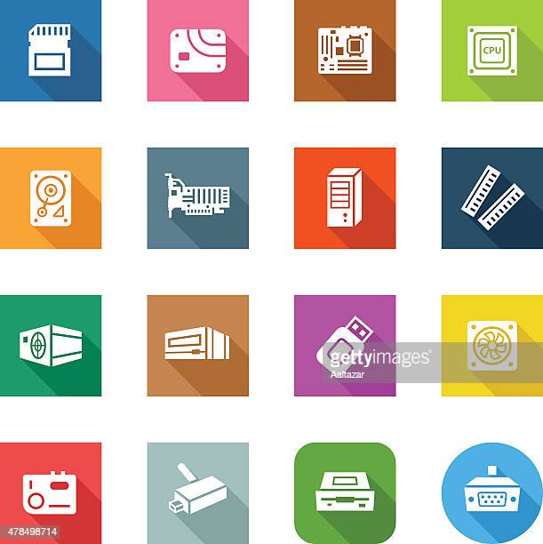 Flat Icons - Computer Components