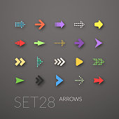 Flat icons set 28 - signs arrows
