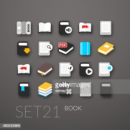 Flat icons set : Vector Art