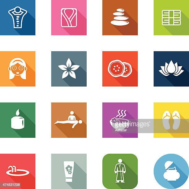 Flat Icons - Spa & Wellness