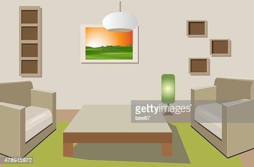 Flat Interior Design Vector Art