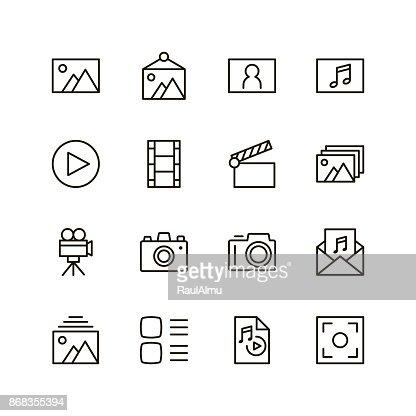 Icono de línea plana : Arte vectorial