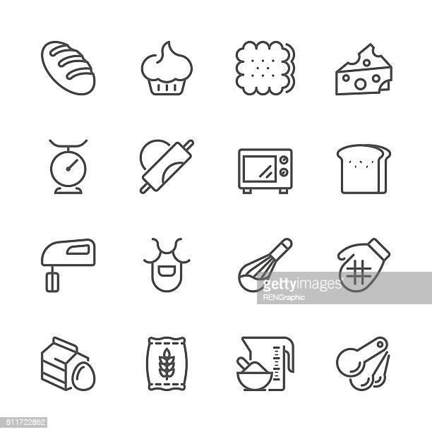 Ligne plat icônes-Série de soude