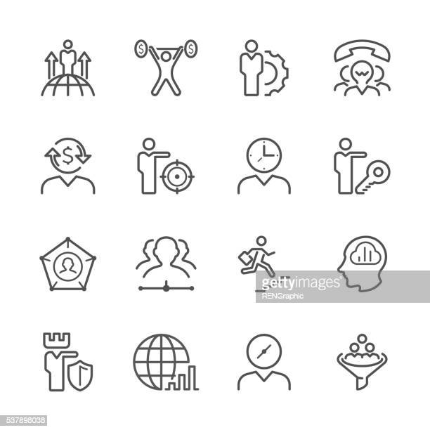 Flache Linie icons-Business-Metapher Serie