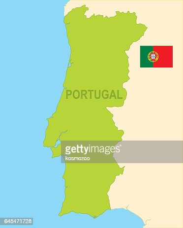 Portugal Map Flag Vector Art Getty Images - Portugal map flag