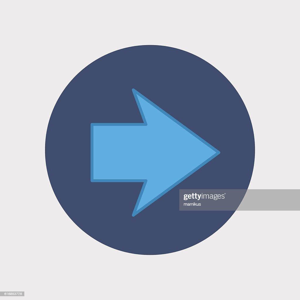 flat modern arrow : Vector Art