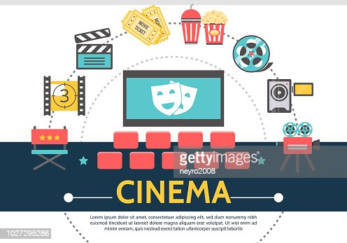 Flat Movie Template : stock vector
