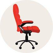 Flat office chair