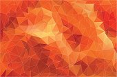 Flat Orange Polygonal Background. Colorful mosaic pattern.