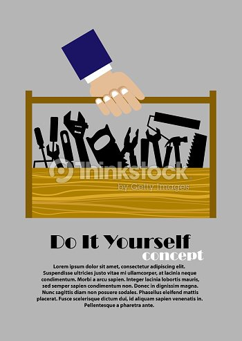 Diy flat poster with tools vector art thinkstock diy flat poster with tools vector art solutioingenieria Gallery