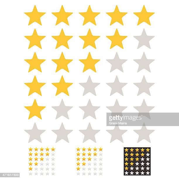 Flat rating stars - VECTOR
