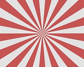 Flat Red White Sunburst rays sunbeam background vector