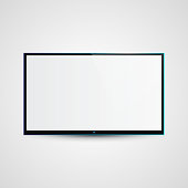 TV Flat Screen Icd Illustration, Graphic Concept  For Your Design.