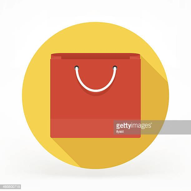 Flat Shopping Bag Icon