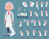 flat type Research Doctor old women_sickness