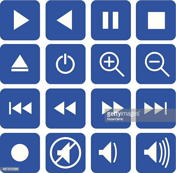 Flat Video Control Buttons
