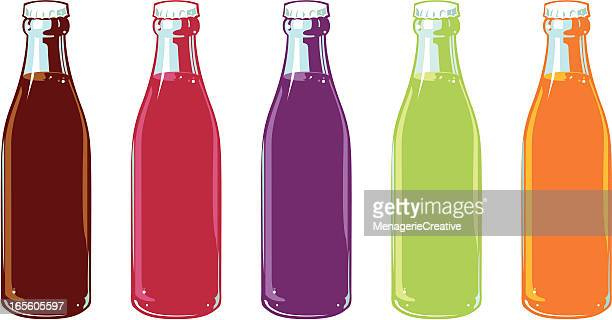 Flavored Soda Bottles