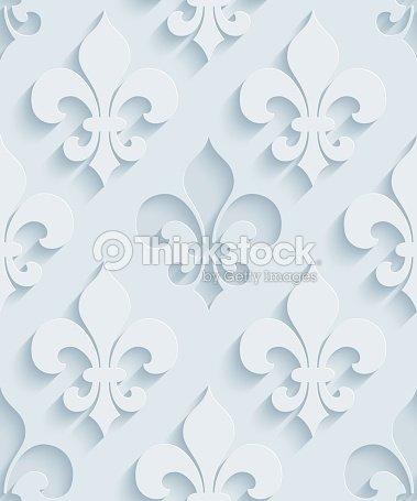 fleur de lys 3d sans couture papier peint motif clipart vectoriel thinkstock. Black Bedroom Furniture Sets. Home Design Ideas