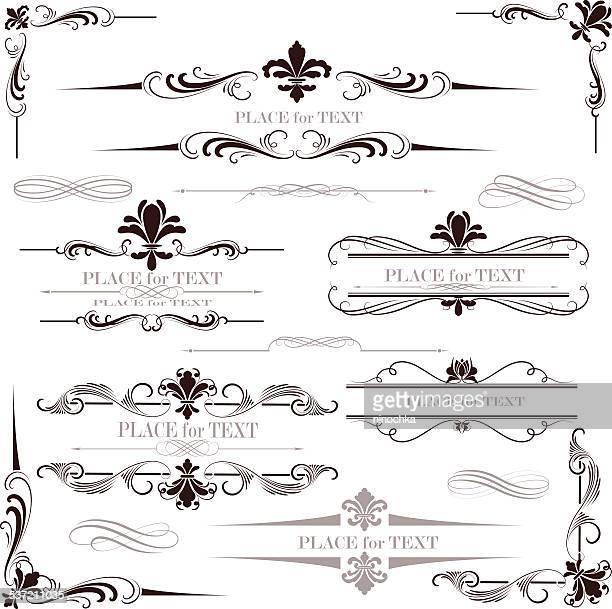 fleur-de-Lis Kalligrafie design