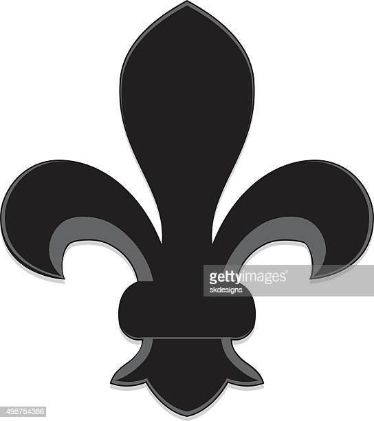 Fleur de lys stock illustrations and cartoons getty images - Fleur de lys symbole ...