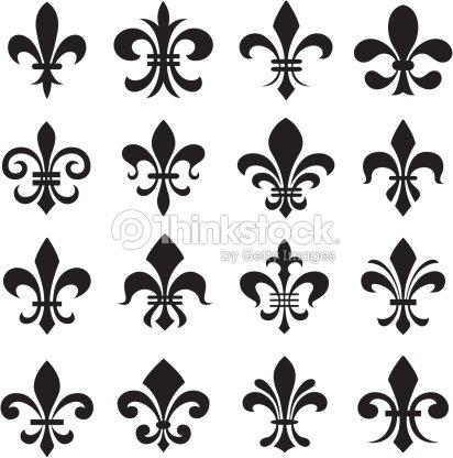 Symbole de fleur de lys clipart vectoriel thinkstock - Symbole fleur de lys ...