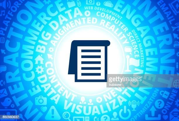 Flip Booklet Icon on Internet Modern Technology Words Background