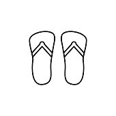 flip flops icon. Signs and symbols can be used for web, logo, mobile app, UI, UX on white background