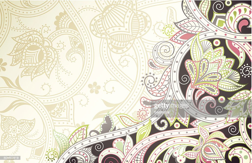 Floral Abstract Curve : Vector Art