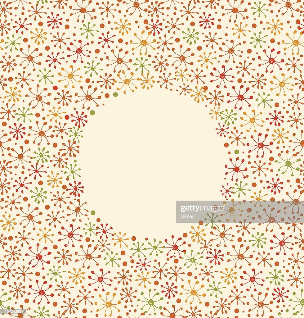 Floral blossom banner. Cute design template : Vector Art