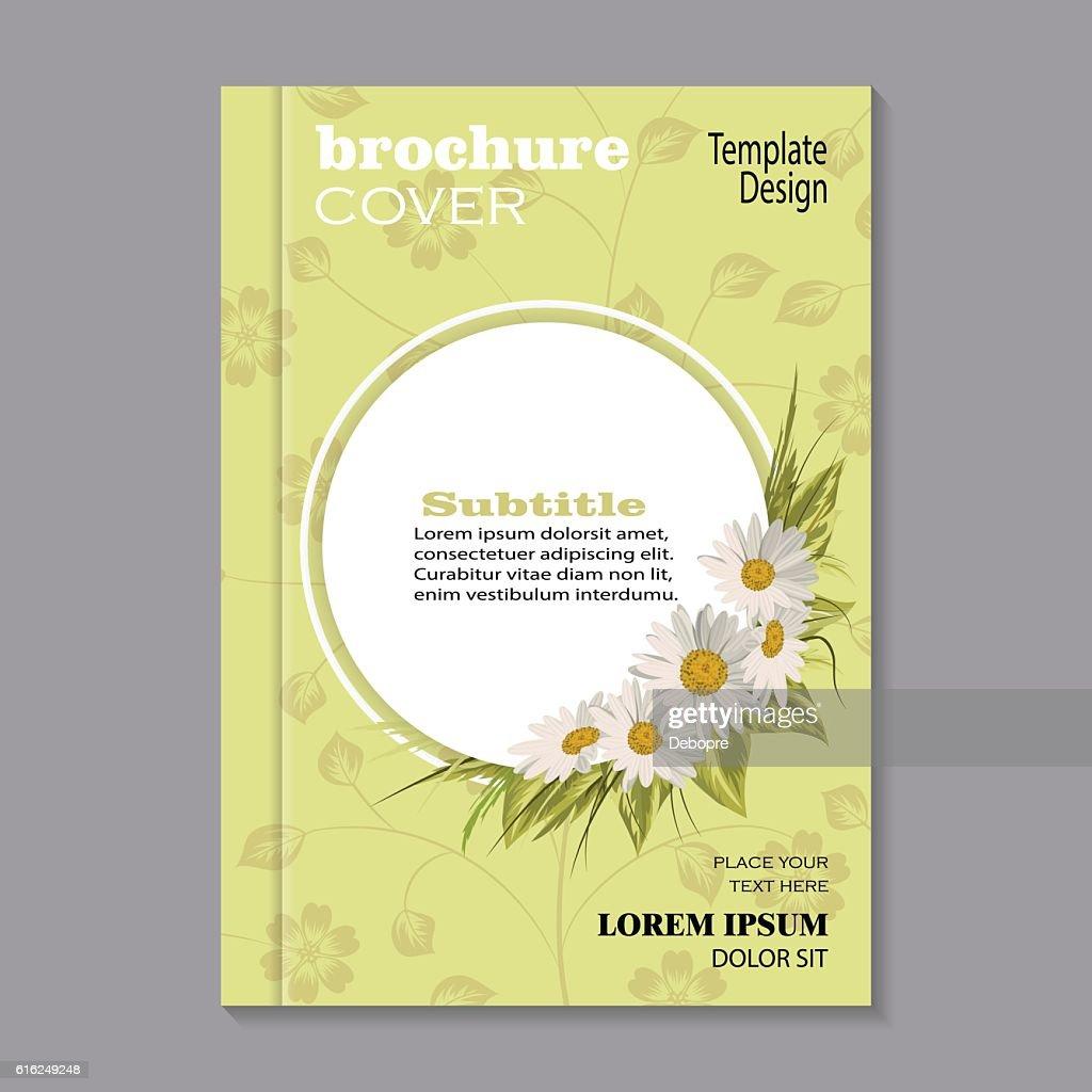 Floral brochure cover design : Vector Art