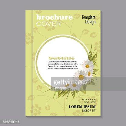Capa de Brochura de projeto Floral : Arte vetorial