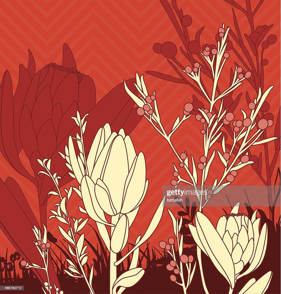 floral composition vector art getty images. Black Bedroom Furniture Sets. Home Design Ideas