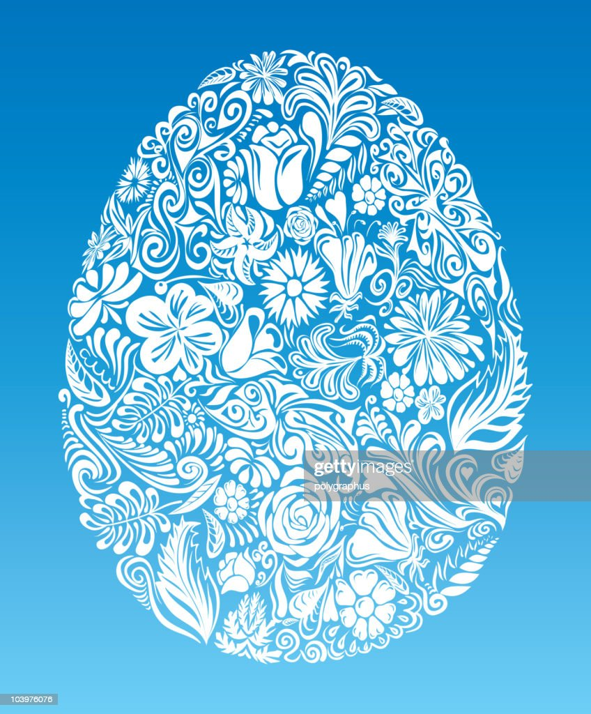 Floral egg : Vector Art