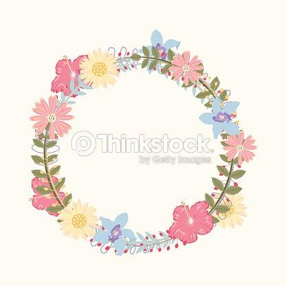 marco de flores para invitaciones de boda y tarjetas de cumpleaños