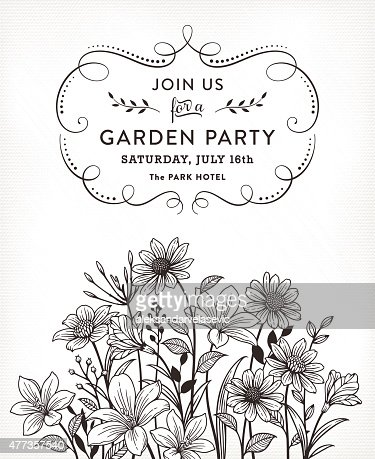 Floral invitation vector art getty images floral invitation vector art stopboris Gallery