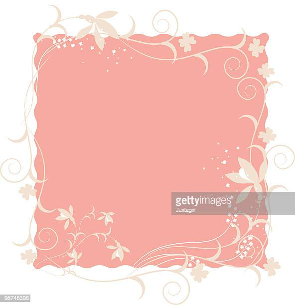 Floral motif square frame background