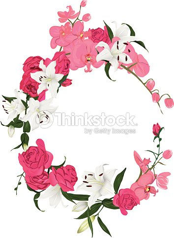 Floral Ornament Round Vector Frame Vector Art | Thinkstock