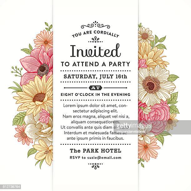 Blumenmuster-Party-Einladung