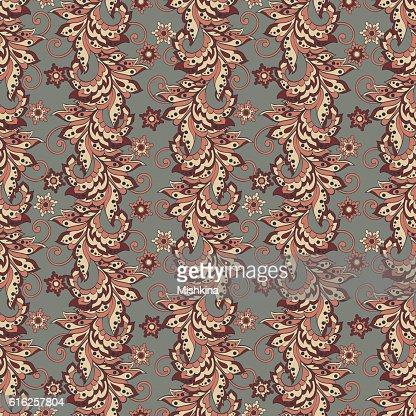 Patrón Floral en Batik indio estilo. Vector transparente fondo : Arte vectorial