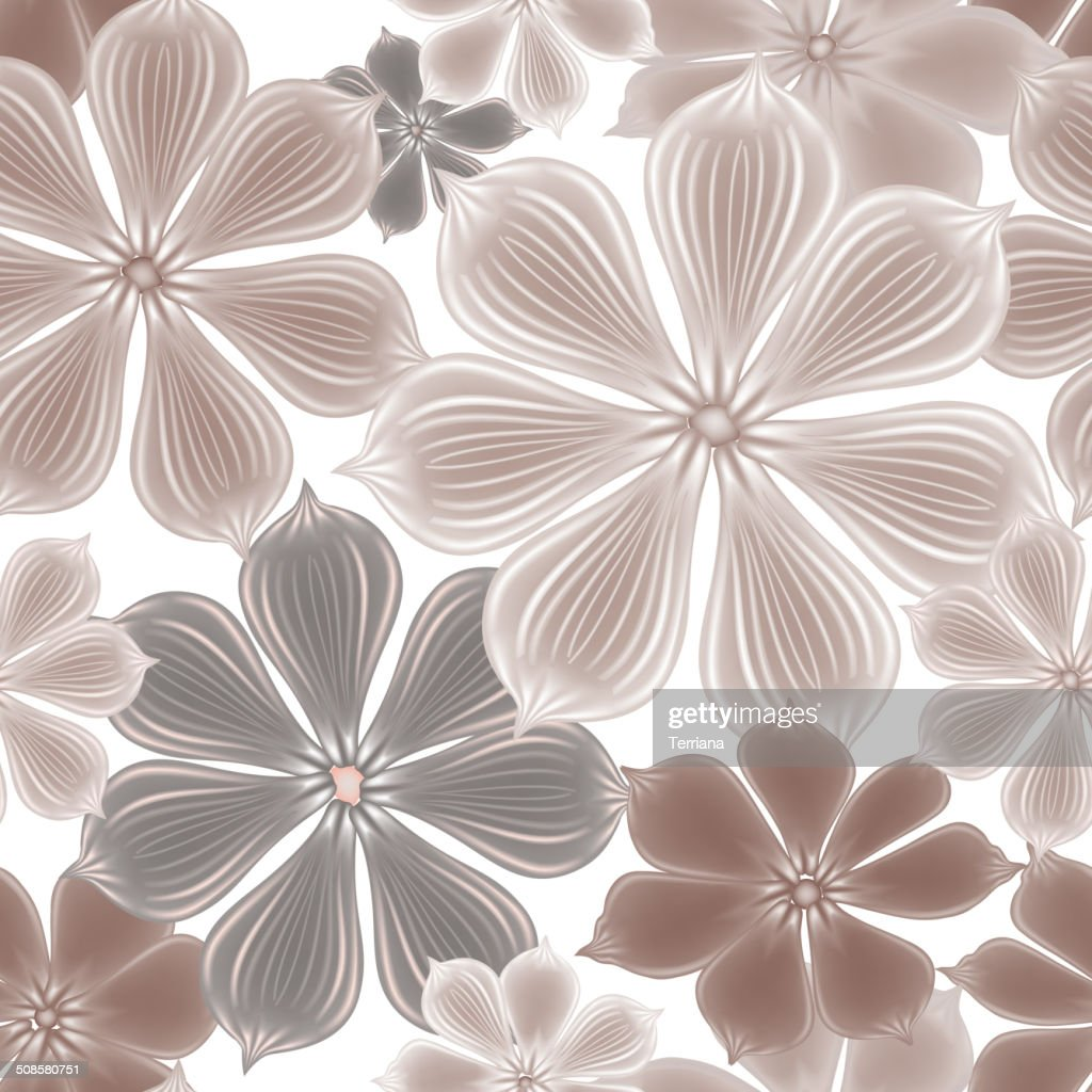 Floral seamless background. Decorative flower pattern. Floral seamless texture with flowers. : Vektorgrafik