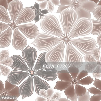 Floral seamless background. Decorative flower pattern. Floral seamless texture with flowers. : Vector Art