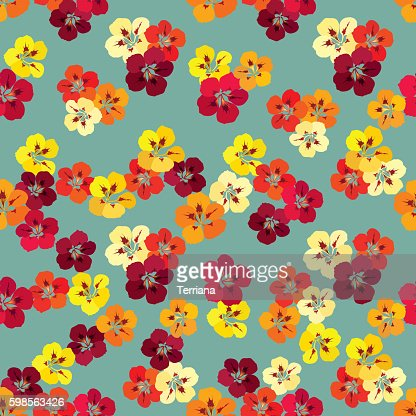 Floral seamless pattern. Flower background. : stock vector