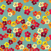 Floral seamless pattern. Flower nasturtium background. Floral tile spring texture with flowers.