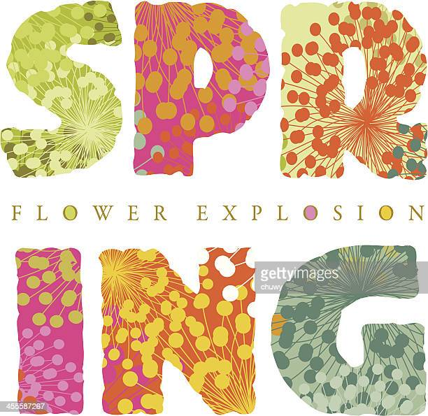 Floral spring text