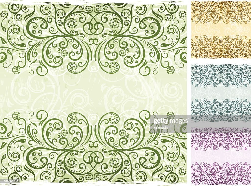 Floral vector background : Vector Art